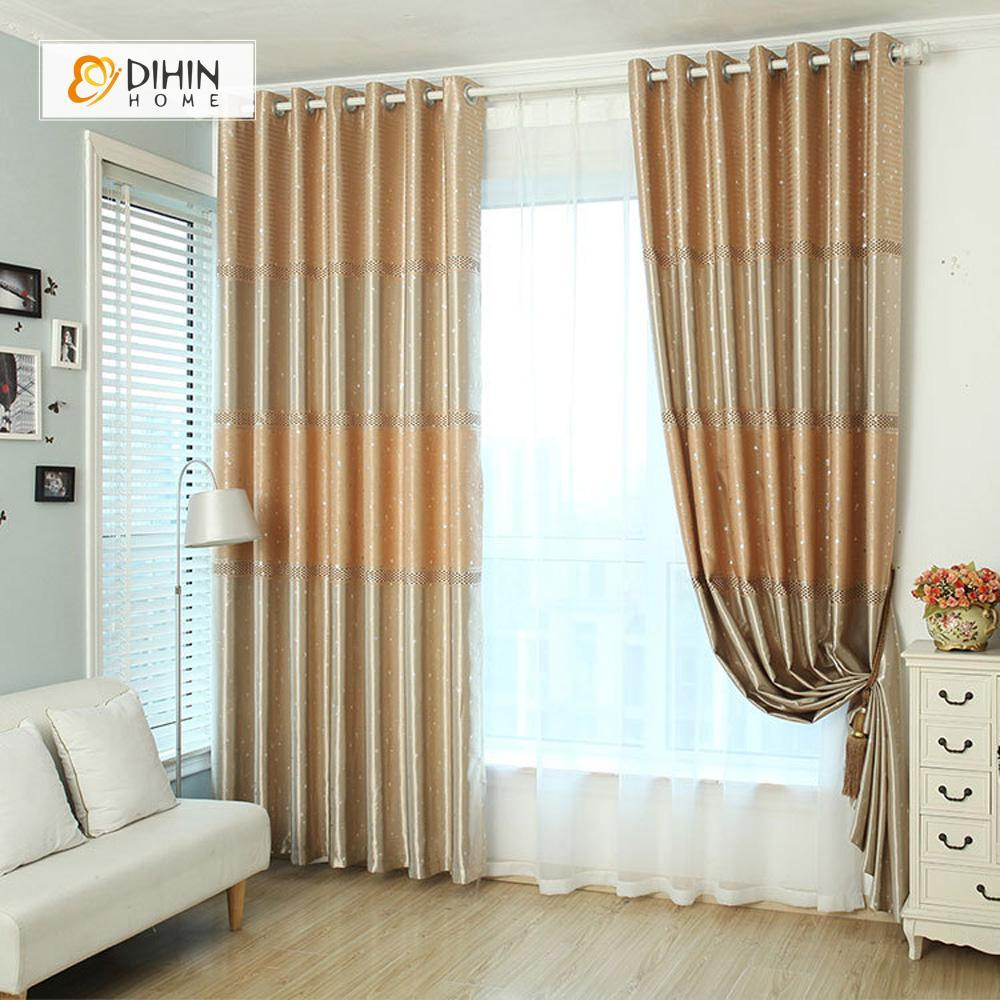 DIHINHOME Home Textile Modern Curtain DIHIN HOME Coffee Spot Printed,Blackout Grommet Window Curtain for Living Room ,52x63-inch,1 Panel