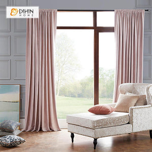 DIHINHOME Home Textile Modern Curtain DIHIN HOME Exquisite Pink Printed,Blackout Grommet Window Curtain for Living Room ,52x63-inch,1 Panel