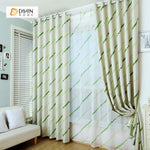 DIHINHOME Home Textile Modern Curtain DIHIN HOME Green Curve and Spot Printed,Blackout Grommet Window Curtain for Living Room ,52x63-inch,1 Panel