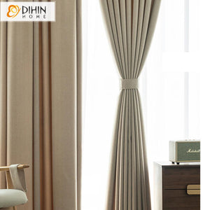 DIHINHOME Home Textile Modern Curtain DIHIN HOME Modern Camel Color High Quality Curtains,Blackout Grommet Window Curtain for Living Room ,52x63-inch,1 Panel