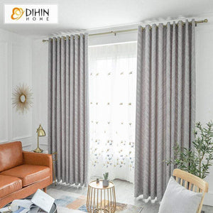 Modern Curtain Blackout Grommet Window Curtain for Living Room