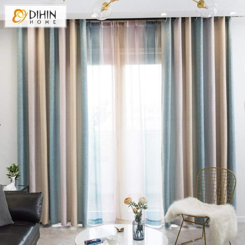 Pastoral Curtain Blackout Grommet Window Curtain For Living Room Dihinhome Home Textile