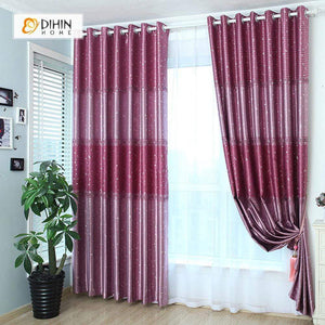 DIHINHOME Home Textile Modern Curtain DIHIN HOME Red Spot Printed,Blackout Grommet Window Curtain for Living Room ,52x63-inch,1 Panel