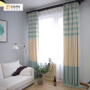 DIHINHOME Home Textile Modern Curtain DIHIN HOME Warm Color And Soft Curtain,Blackout Grommet Window Curtain for Living Room ,52x63-inch,1 Panel