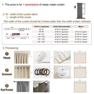 DIHINHOME Home Textile Modern Curtain Modern Grey High Blackout Curtains Window Shade For Living Room