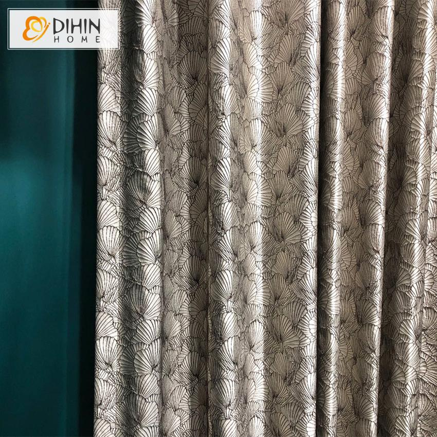 DIHINHOME Home Textile Pastoral Curtain Copy of DIHIN HOME European Luxury Purple Color Embroidered,Blackout Curtains Grommet Window Curtain for Living Room ,52x84-inch,1 Panel
