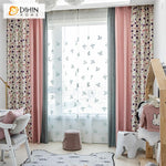 DIHINHOME Home Textile Pastoral Curtain Copy of DIHIN HOME Retro Pastoral Green Leaves Printed,Blackout Grommet Window Curtain for Living Room ,52x63-inch,1 Panel