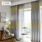 DIHINHOME Home Textile Pastoral Curtain DIHIN HOME Big Yellow and White Leaves Printed,Blackout Grommet Window Curtain for Living Room ,52x63-inch,1 Panel