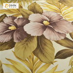 DIHINHOME Home Textile Pastoral Curtain DIHIN HOME Bright Flowers Printed ,Polyester,Blackout Grommet Window Curtain for Living Room ,52x63-inch,1 Panel
