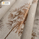 DIHINHOME Home Textile Pastoral Curtain DIHIN HOME Brown Dandelion Printed ,Blackout Grommet Window Curtain for Living Room ,52x63-inch,1 Panel