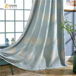DIHINHOME Home Textile Pastoral Curtain DIHIN HOME Embroidered White Leaf Curtain ,Cotton Linen ,Blackout Grommet Window Curtain for Living Room ,52x63-inch,1 Panel