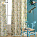 DIHINHOME Home Textile Pastoral Curtain DIHIN HOME Fashion Tree Printed Curtain ,Cotton Linen ,Blackout Grommet Window Curtain for Living Room ,52x63-inch,1 Panel