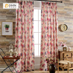 DIHINHOME Home Textile Pastoral Curtain DIHIN HOME Modern Oil Painting Curtain ,Cotton Linen ,Blackout Grommet Window Curtain for Living Room ,52x63-inch,1 Panel