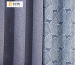 DIHINHOME Home Textile Pastoral Curtain DIHIN HOME Pastoral Small Leaves Printed,Blackout Grommet Window Curtain for Living Room ,52x63-inch,1 Panel