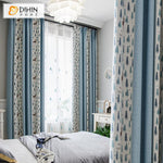 DIHINHOME Home Textile Pastoral Curtain DIHIN HOME Pastoral Tree and Deer Printed,Blackout Grommet Window Curtain for Living Room ,52x63-inch,1 Panel