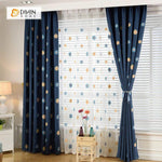 DIHINHOME Home Textile Pastoral Curtain DIHIN HOME Sunflower Embroidered,Blackout Grommet Window Curtain for Living Room ,52x63-inch,1 Panel