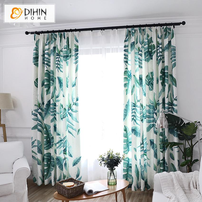 DIHINHOME Home Textile Modern Curtain Copy of DIHIN HOME Neat Triangle Geometric Printed,Blackout Grommet Window Curtain for Living Room ,52x63-inch,1 Panel