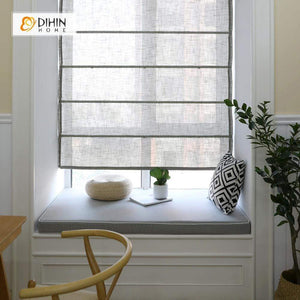 "DIHINHOME Home Textile Roman Blind DIHIN HOME Translucent Printed Roman Shades ,Easy Install Washable Curtains ,Customized Window Curtain Drape, 24""W X 64""H"