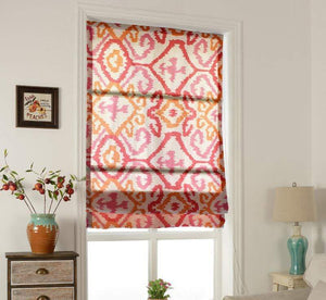 "DIHINHOME Home Textile Roman Blind Modern Jacquard Geometric Printed Roman Shades / Window Blind Fabric Curtain Drape, 23""W X 64""H"