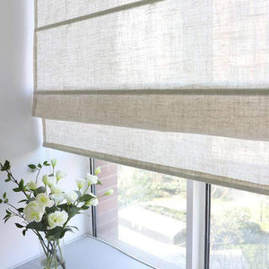 "DIHINHOME Home Textile Roman Blind Modern Solid Beige Color Roman Shades / Window Blind Fabric Curtain Drape, 23""W X 64""H"