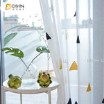 DIHINHOME Home Textile Sheer Curtain Copy of DIHIN HOME Cartoon Lucky Stars Embroidered,Sheer Curtain,Grommet Window Curtain for Living Room ,52x63-inch,1 Panel