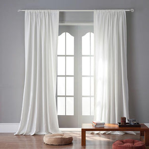 DIHINHOME Home Textile Sheer Curtain Modern Dark Brown Color Linen Solid Sheer Curtain Window Curtains For Living Room