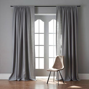 DIHINHOME Home Textile Sheer Curtain Modern Rubber Red Color Linen Solid Sheer Curtain Window Curtains For Living Room