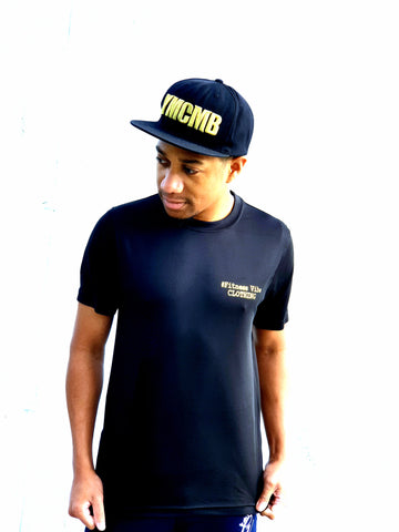 Men's #FitnessVibeClothing T-shirt Gold Edition | Black