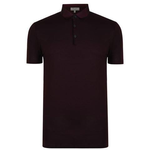 Men's Lanvin Grosgrain Polo | Burgundy