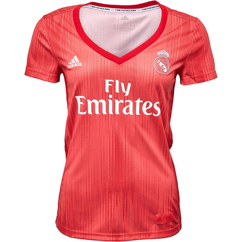 Women's Adidas RMCF Real Madrid Third Jersey | Real Coral/Vivid Red