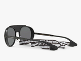 Men's Dolce & Gabbana DG2210 Oval Sunglasses, Black/Mirror Silver