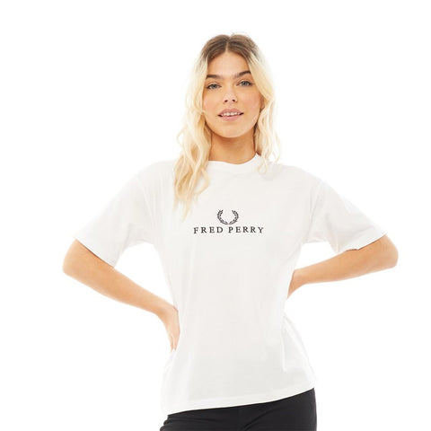 Women's Fred Perry Embroidered T-Shirt White
