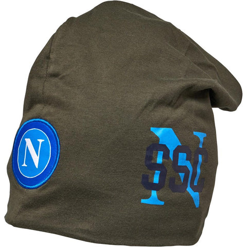 Men's Kappa SSC Napoli Wommot Slouched Beanie Hat Verde Africa | Khaki