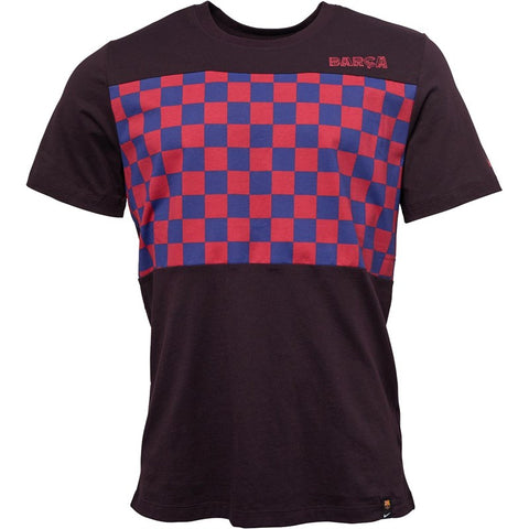 Men's Nike FCB Barcelona Crest Travel T-Shirt | Burgundy/Noble Red/Blue