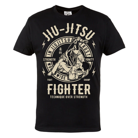 Men's Jiu Jitsu Fighter T-Shirt - Black