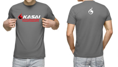 KASAI men's charcoal gray t-shirt