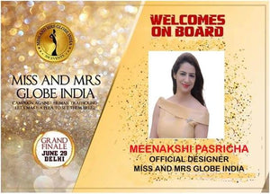 Y_P_C AS OFFICIAL DESIGNER PARTNER WITH MISS & MRS GLOBE INDIA 2019