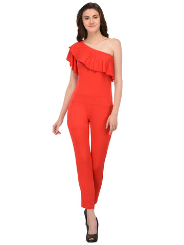 Lozanoo Beautiful solid red jumpsuit.