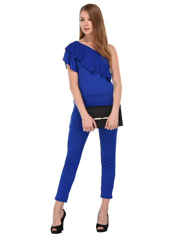 Lozanoo Beautiful solid Blue  jumpsuit.