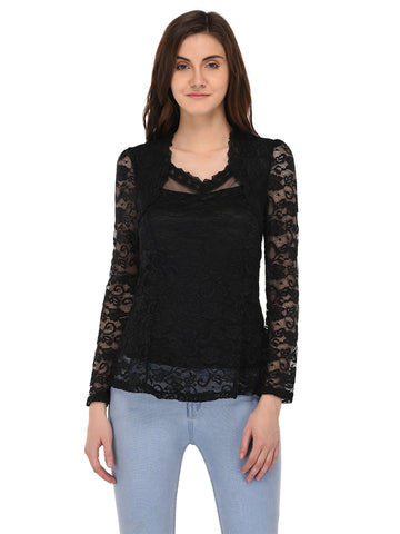 Lozanoo beautiful black lace top