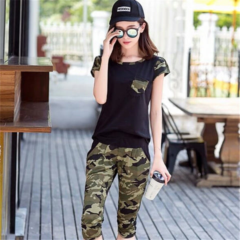 Lozanoo Army print black set