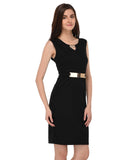 Lozanoo smart black dress for formal and casual purpose.