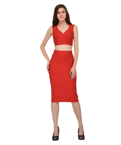 Lozanoo beautiful red bendage co-ord set