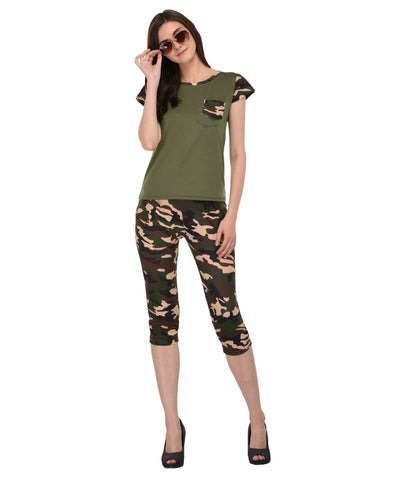 Lozanoo Army print green set