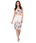 Lozanoo floral white skirt & top co-ord set