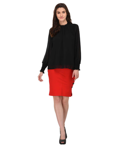Lozanoo black long sleeve shirt top
