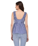 Lozanoo beautiful blue check top