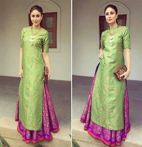 Complete Suit Attire - Kurti with Garara/skirt