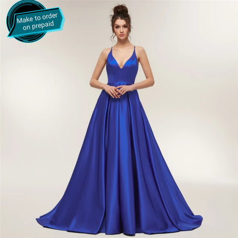 Lozanoo Exclusive Royal Blue Evening Gown Prom Dress