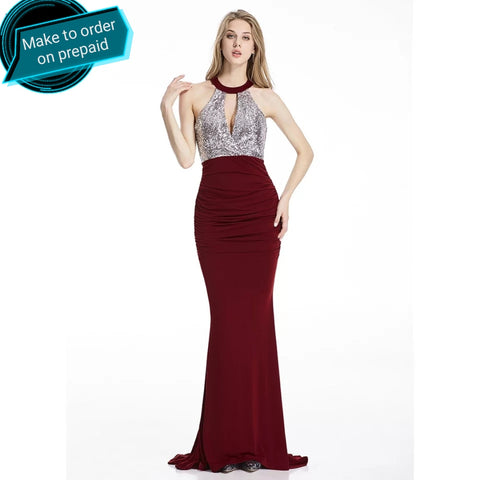 Lozanoo Exclusive Wine Red Evening Gown Prom Dress